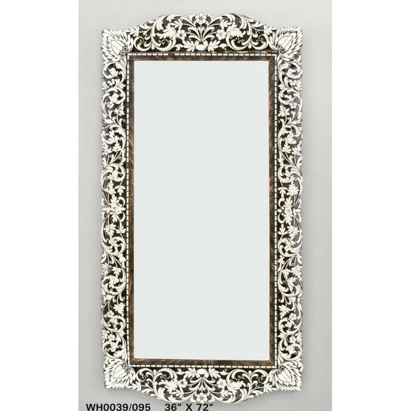 Fancy Long Rectangular Hand Cut mirror