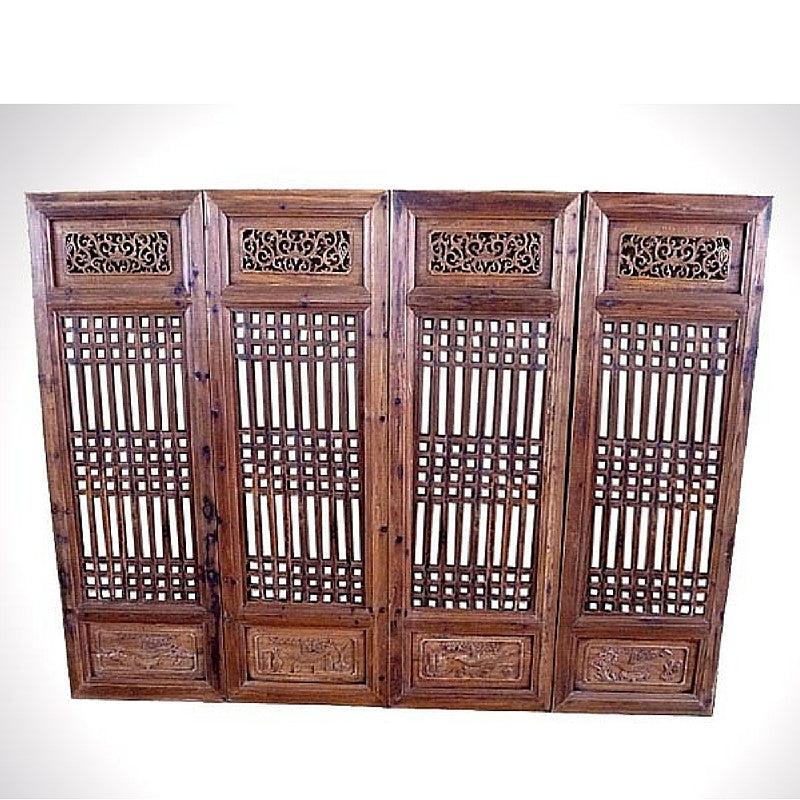 Set of 4 Chinese Antique Screens