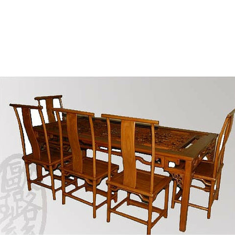 Carved Dining Room Table and Chairs