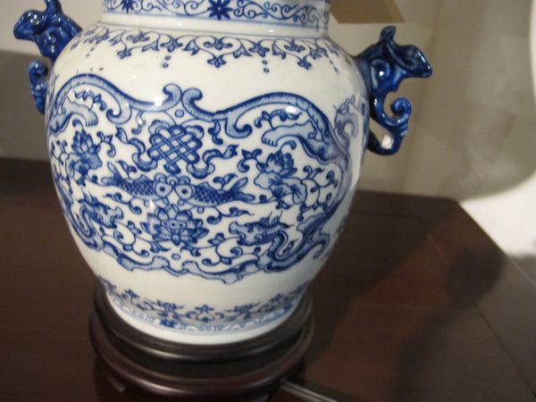 Blue and White Lamp motif Lamp