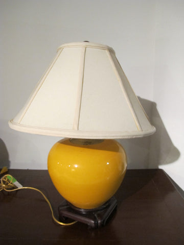 Yellow Porcelain Lamp