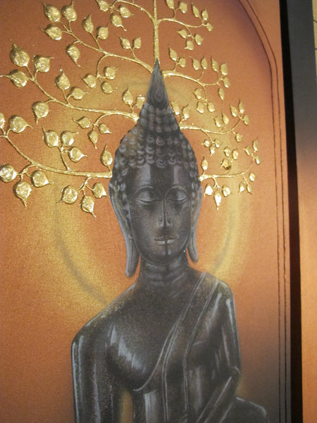 Three Piece Buddha Painting