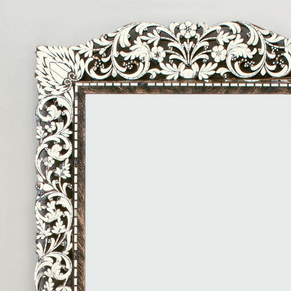 Floral Ornate Rectangular Long Mirror