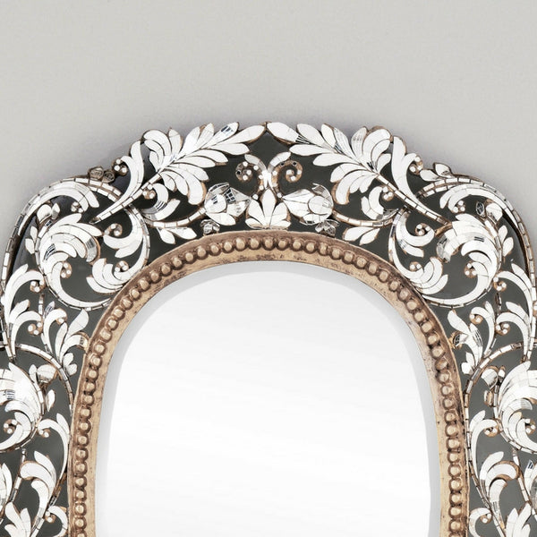 Floral Ornate Design on Thai Wall Mirror