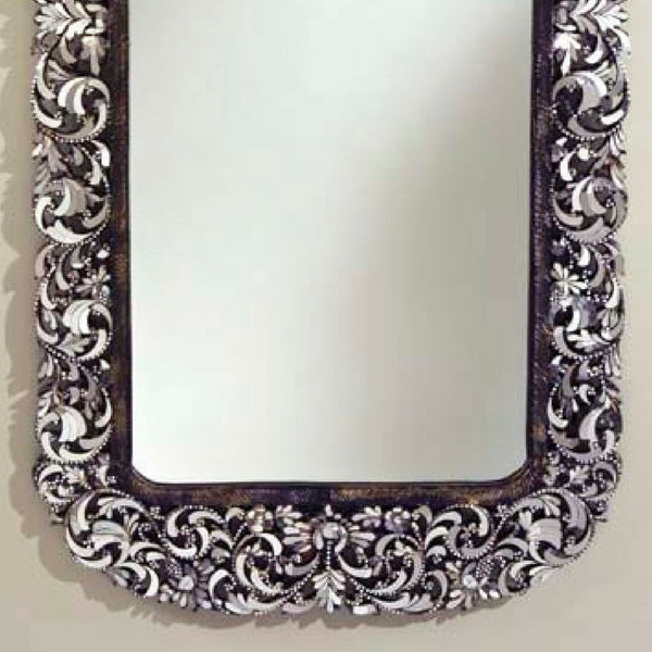 Full Length Mirror with Solid Teakwood Framed Carved Ornate