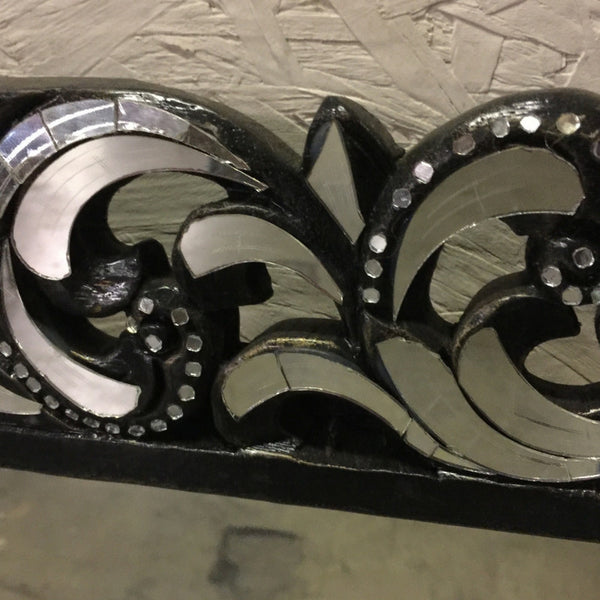 Ornate Swirl Decorative Handcut Glass Mirror