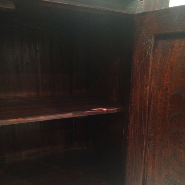 Dark Wood Decorated Chinese Antique Cabinet