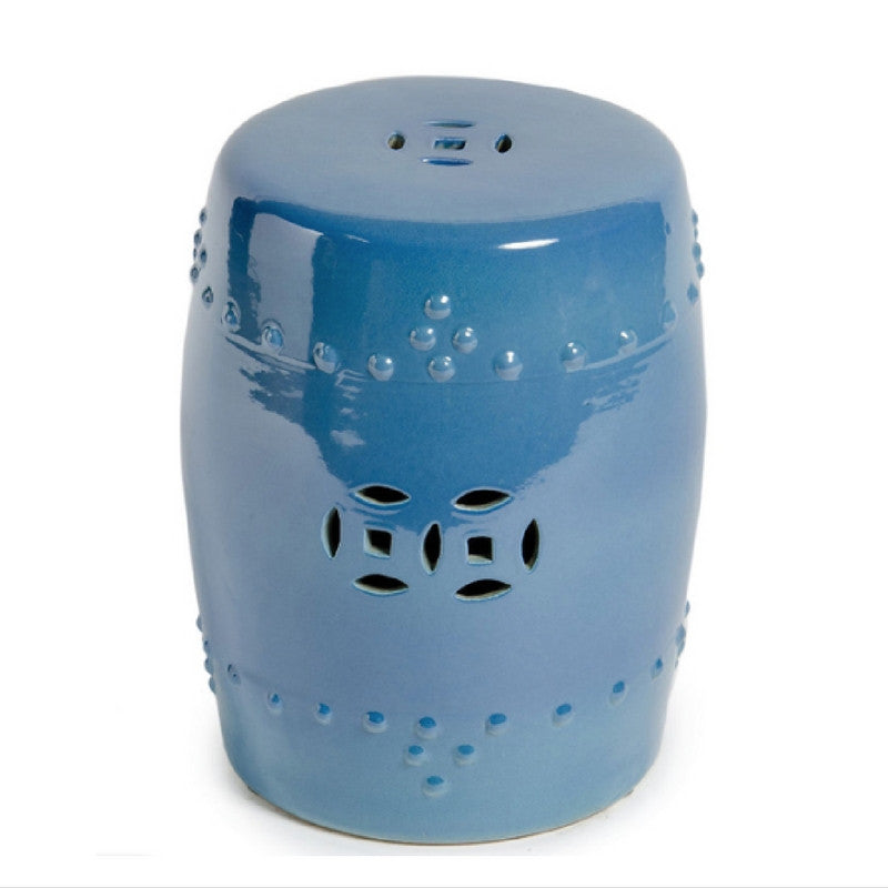 Crystal Blue Chinese Garden Stool