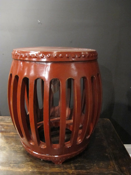 Red Chinese Pumpkin Stool