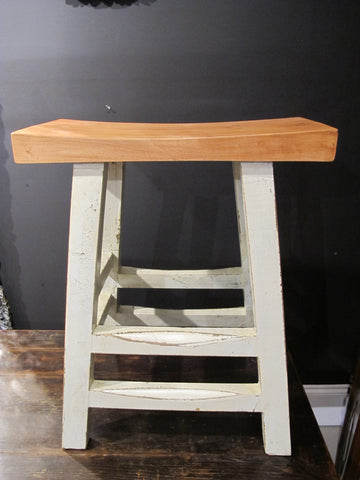Tall White Bar Stool