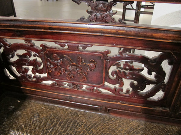 Antique Natural Carved Lady's Bed