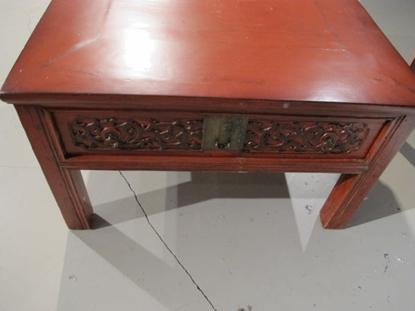 Chinese Antique Coffee Table with Drawers
