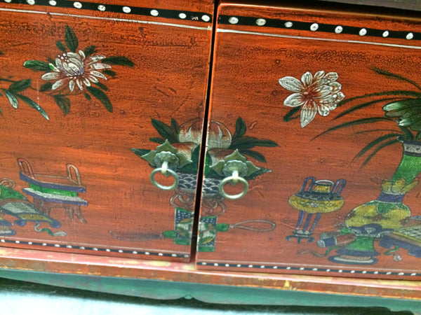 Antique Mid-Size Mongolian Sideboard