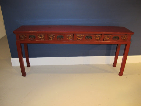 chinese antique lacquered console table