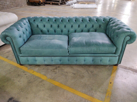 3 seater London in Deluxe Aqua