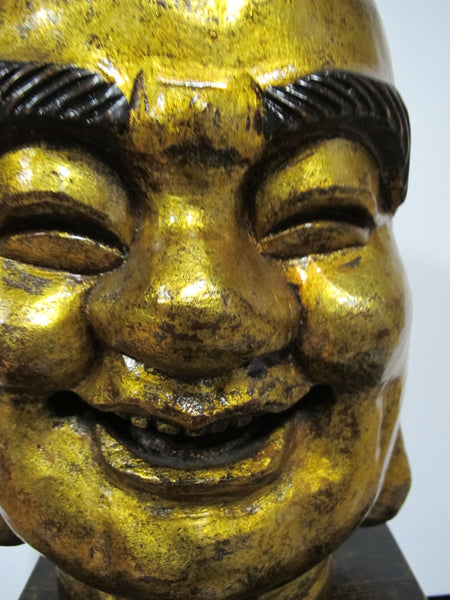 Gold Leaf Happy Buddha