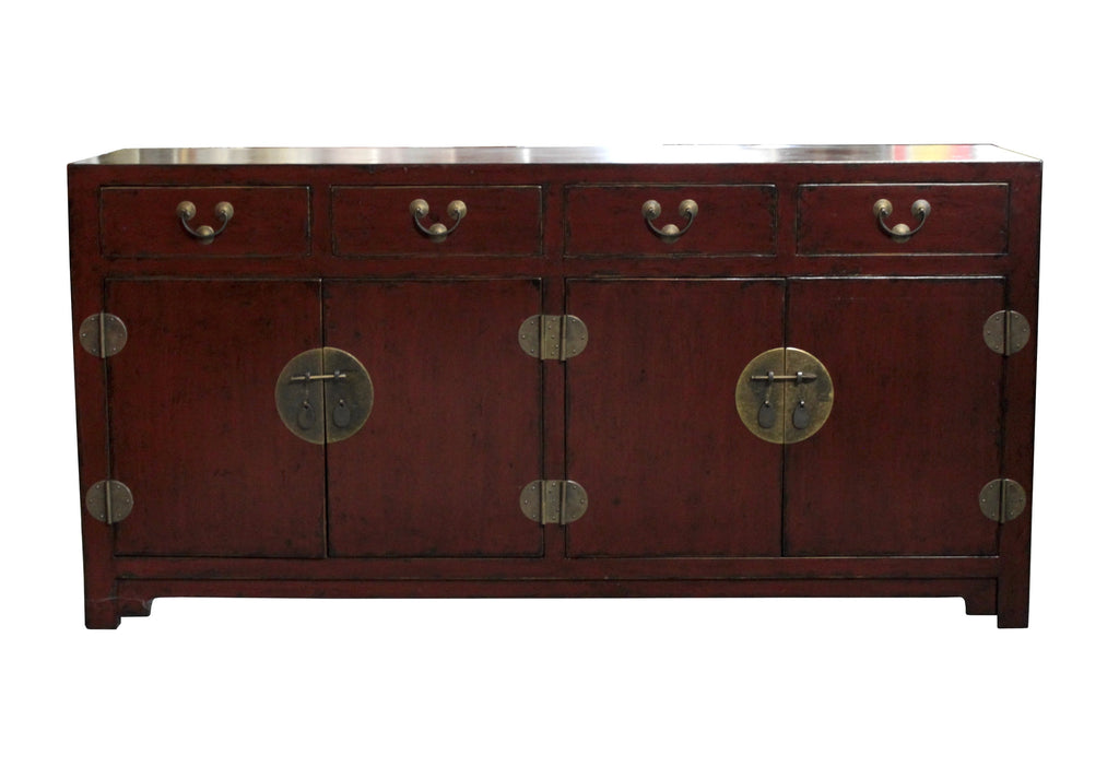 Antique Red Lacquered Sideboard