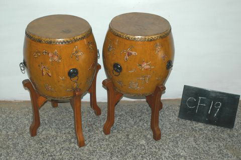 Yellow Drums with Butterfly Motif