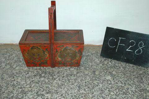 Tibetan decorated box