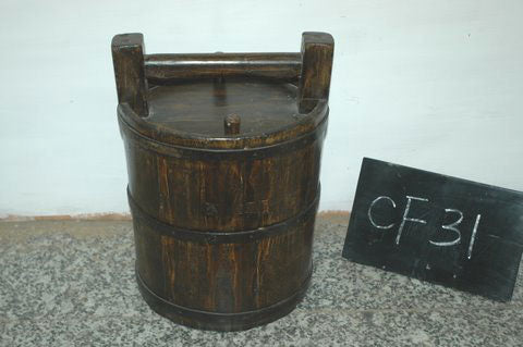 Chinese Antique Bucket with Lid