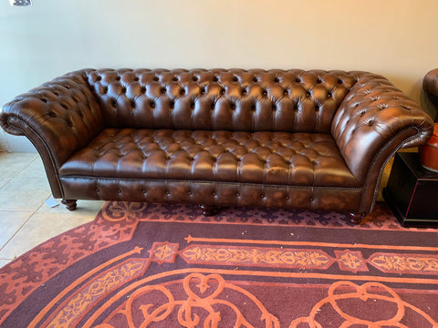tufted leather sofa made in england