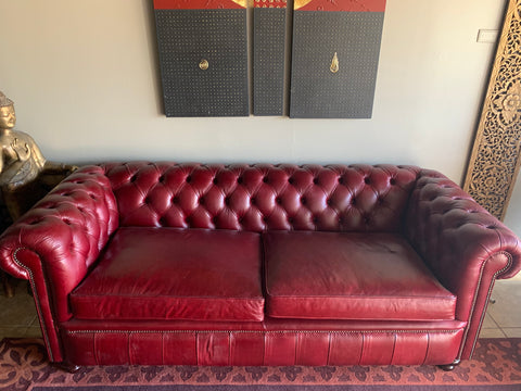 leather chesterfield sofa made in UK
