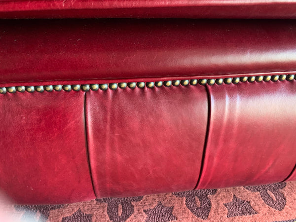 3 Seater London in Old English Burgundy Leather