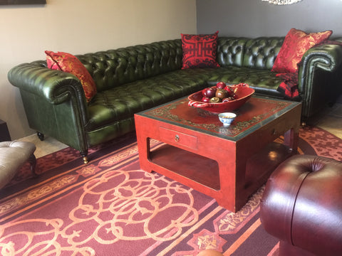 Harewood Sectional in Antique Green