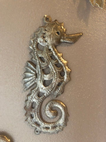seahorse made in haiti from recycles oil drums