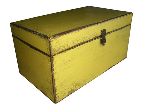 Medium Lime Green Wooden Box