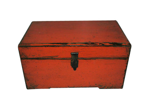 Small Red Wooden Box