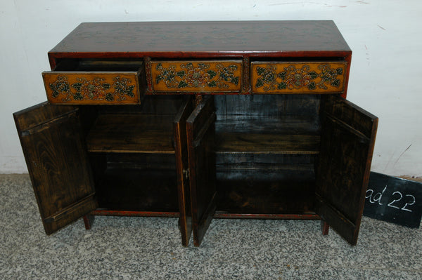 Antique Tibetan Chest with two cabinets and three drawers
