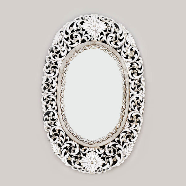 Ornate Intricate Carved wooden Framed Mirror