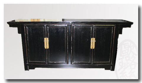 Ming Style Black Lacquer Sideboard