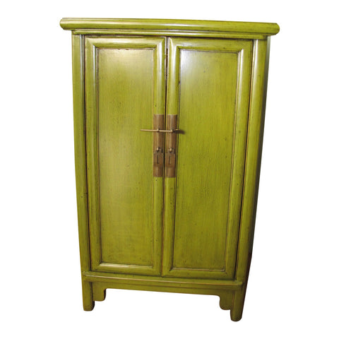 Sale Chinese Style Lime Green Lacquer Bedside Chest