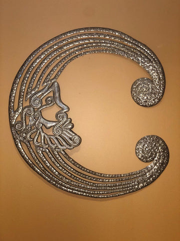 moon made in haiti out of recycled oil drums