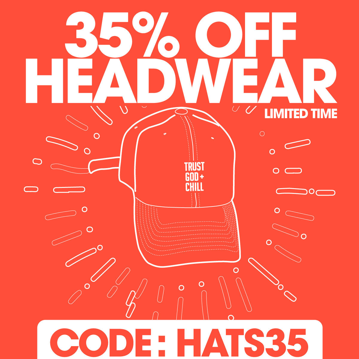 35% Off Hats Promotion