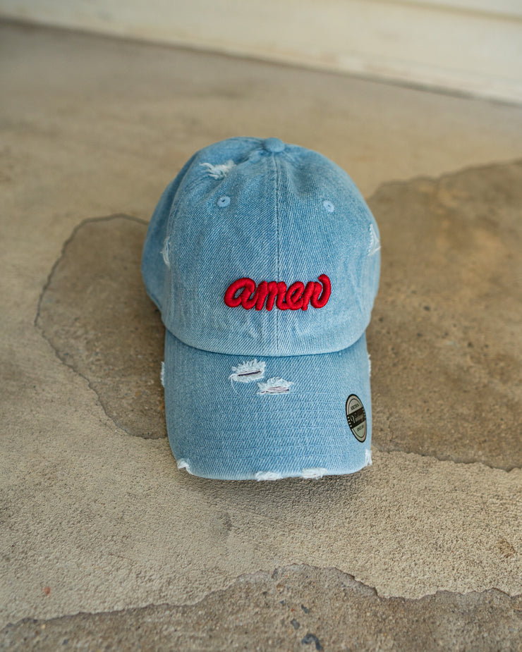 Amen Adult Dad Hat (Distressed)