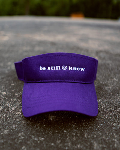 Be Still & Know Adult Visor