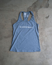 Be Still & Know Womens Racerback Tank