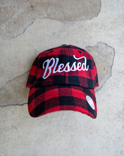 Blessed Plaid Adult Dad Hat