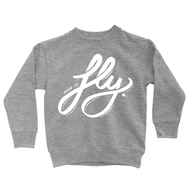 Born To Fly Sweatshirt - Beacon Threads - 2T / Grey w/ White Lettering - 2