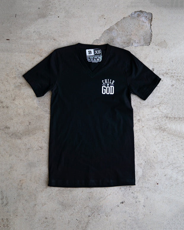 Child Of God V-Neck Adult T-shirt