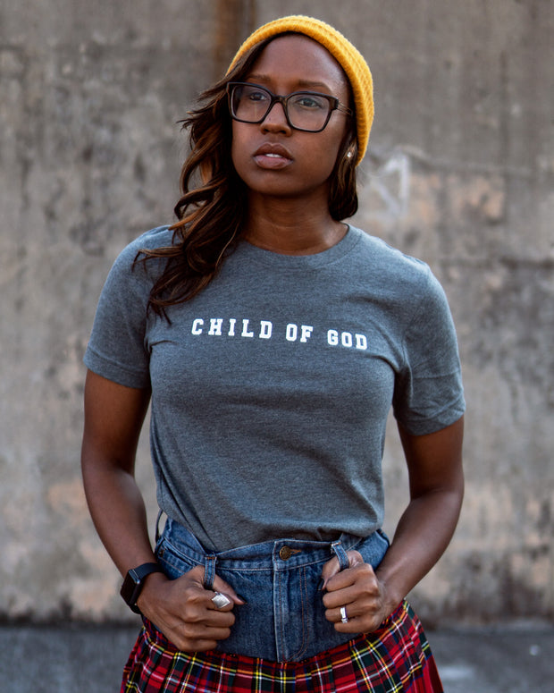 Child of God Strip Adult T-shirt