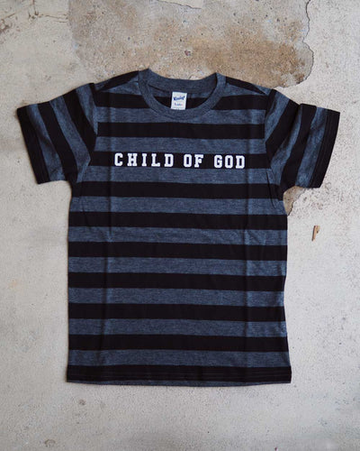 Child Of God Strip Kids T-shirt
