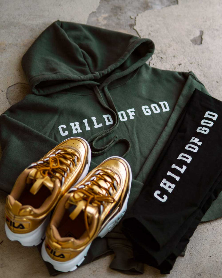 Child Of God Women's Cropped Fleece Hoodie