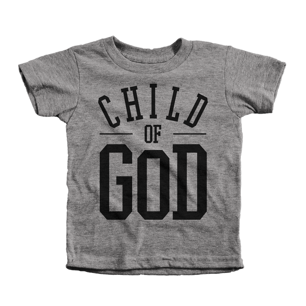 Child of God Infant Tees - Beacon Threads - 12-18M / Grey w/ Black Lettering - 2