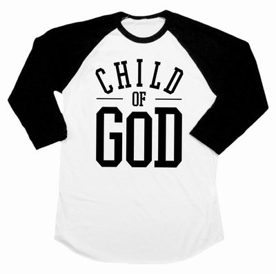 Child of God Infant Raglans - Beacon Threads - 6-12M / Black & White - 1