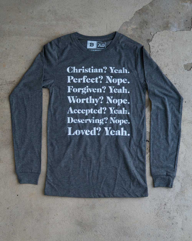 Christian Yeah Adult L/S Shirt