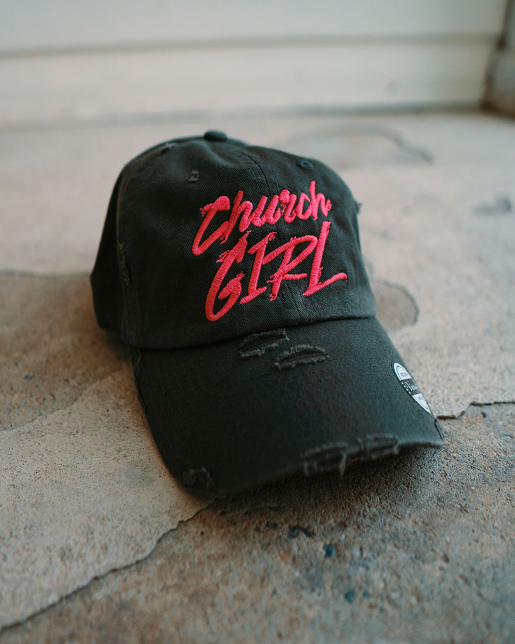 2744c3a79 Church Girl Adult Dad Hat (Distressed)
